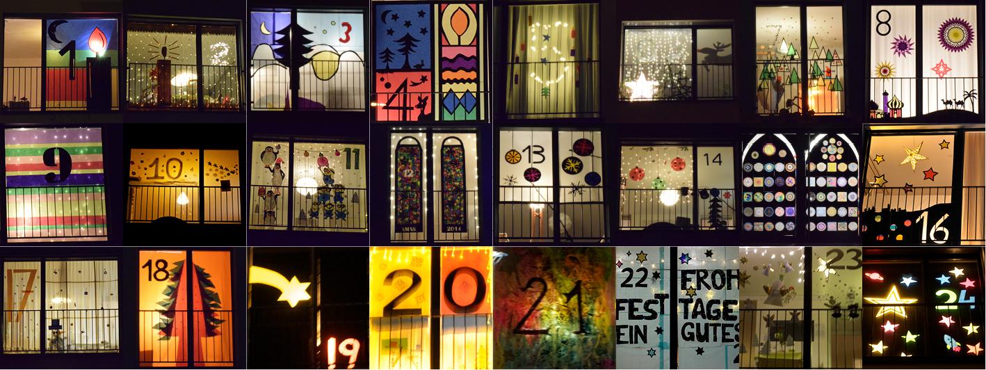 Adventsfenster 2015 lebenbinz - Adventsfenster gestalten ideen ...